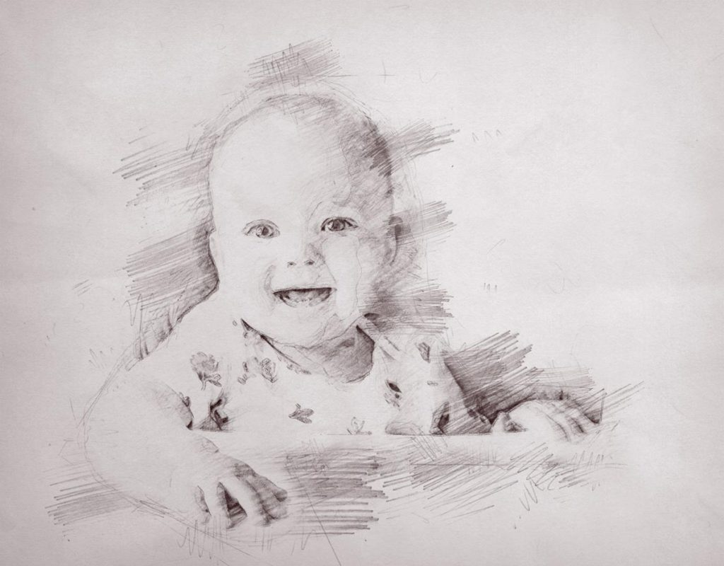Bleistiftzeichnung-kind