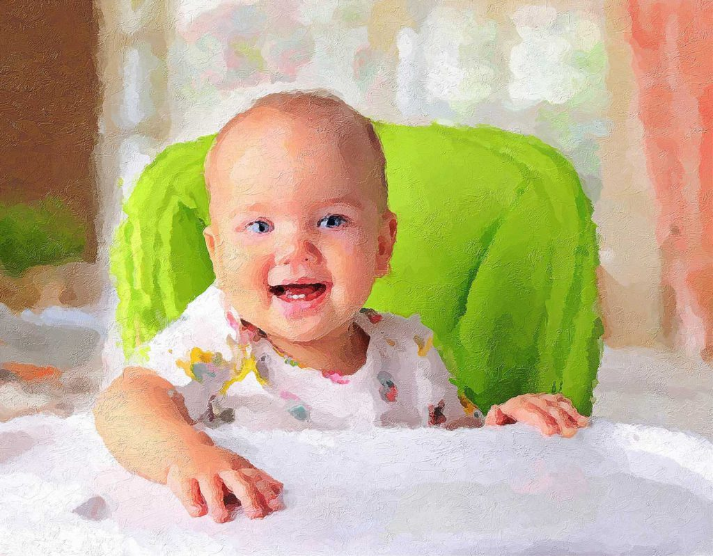 Gemälde-Portrait Baby