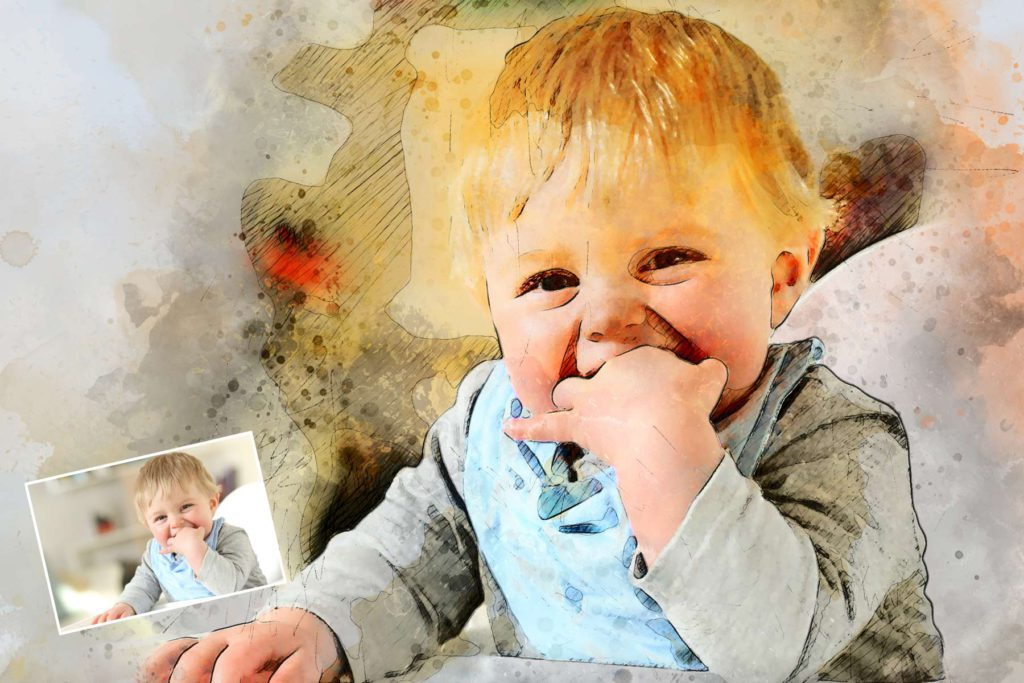 Gemälde Kinderfoto