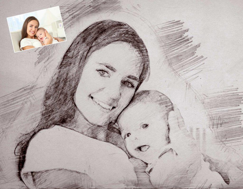 portrait vom baby