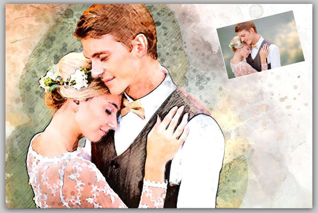 Gemälde Hochzeit Foto