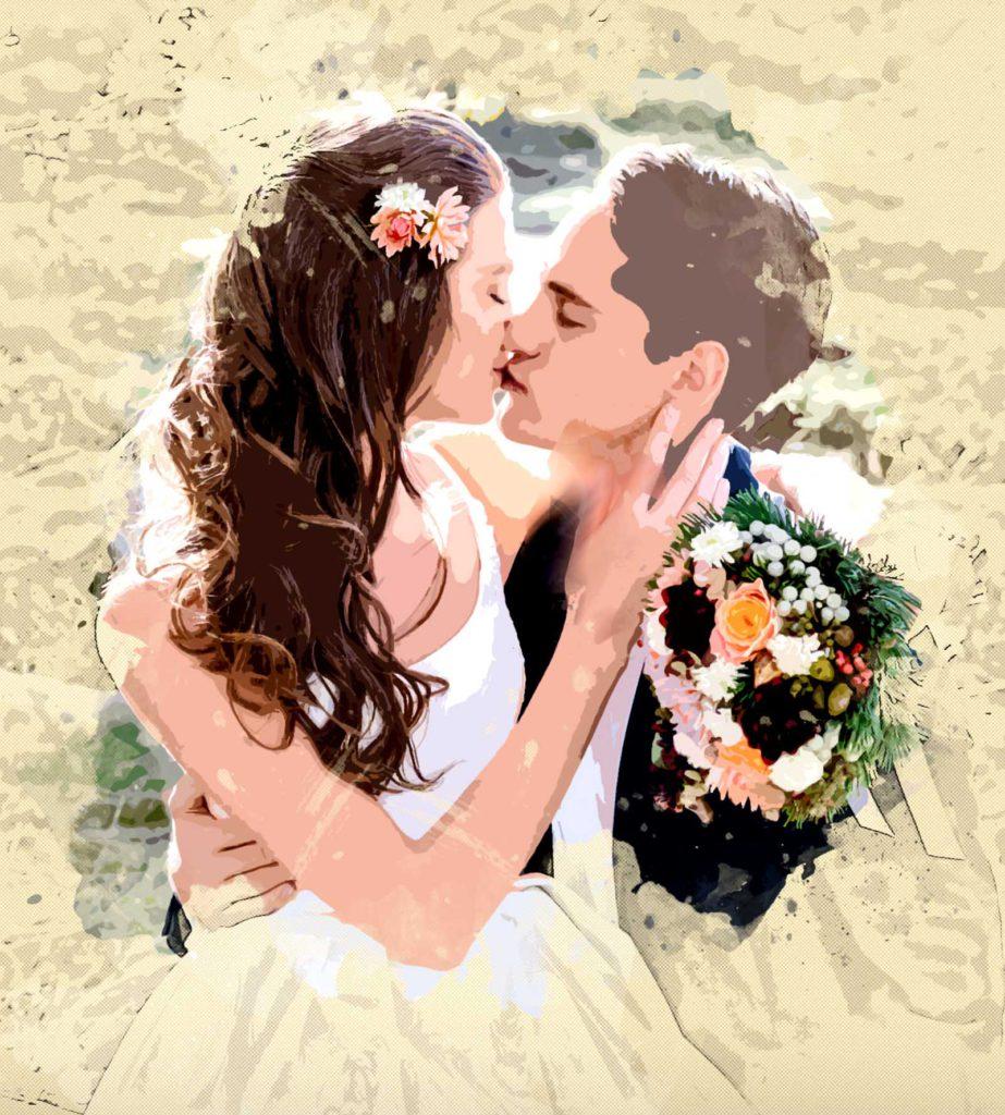 Bild vom Hochzeitspaar