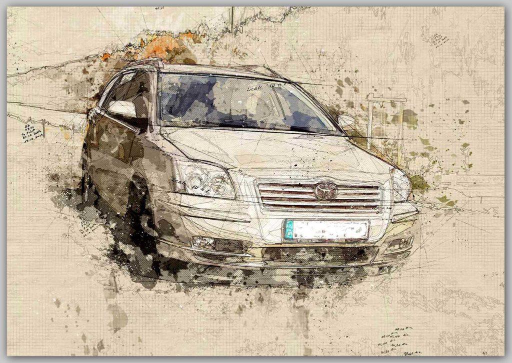 Bild Zeichnung Auto