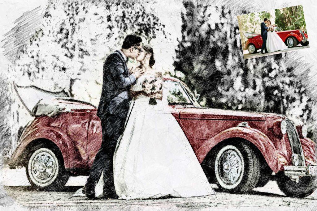 Bild vom Hochzeitsauto