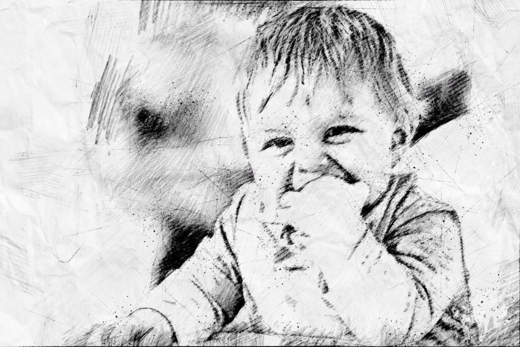 Zeichnung vom Kind