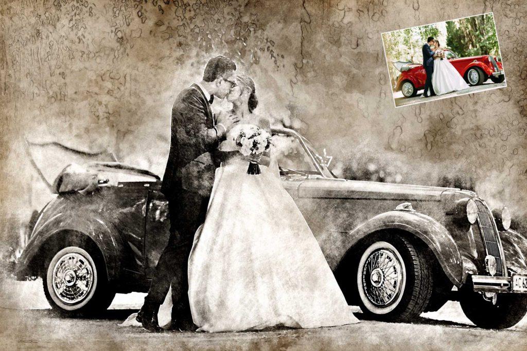 vintage bild Hochzeit
