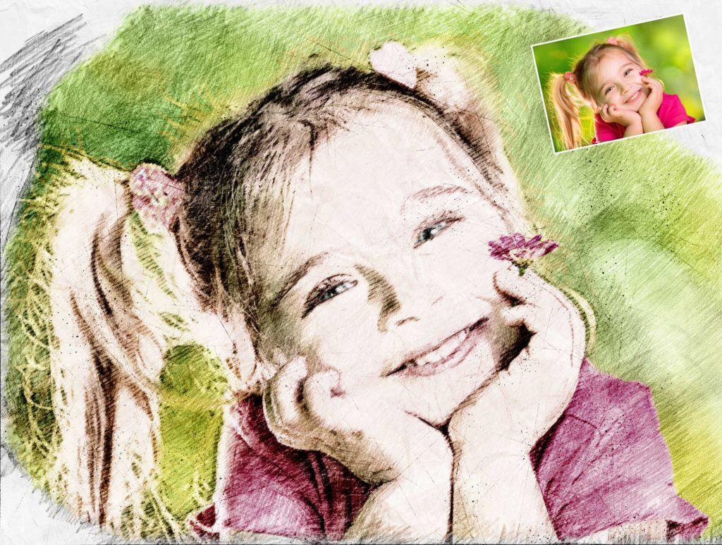 Farbzeichnung Kind