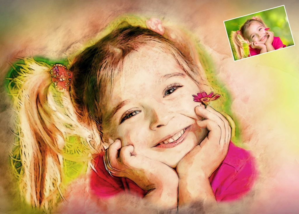 Gemälde vom Kinderfoto