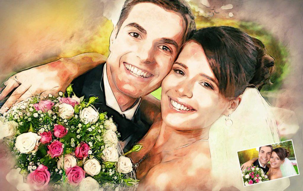 Hochzeitspaar Gemälde