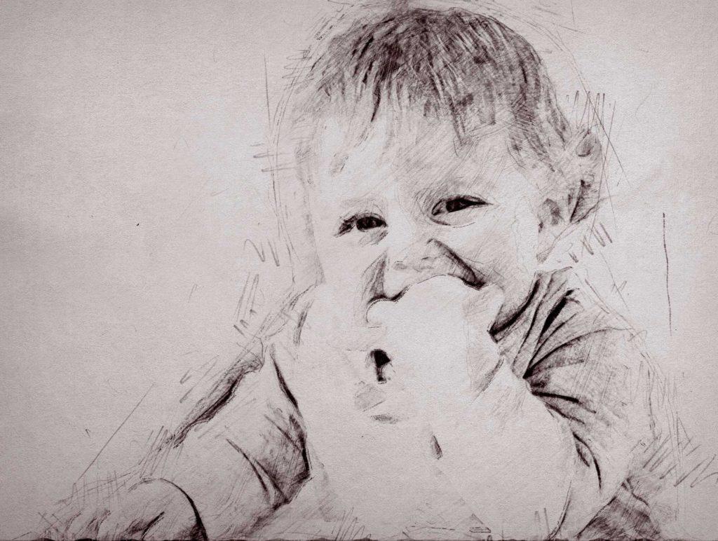 Bleistiftzeichnung Kind